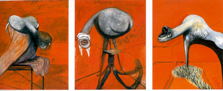 Francis Bacon Three Studies for Figures at the Base of a Crucifixion 1944