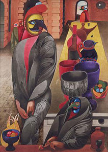 Edward Burra Birdmen and Pots 1947