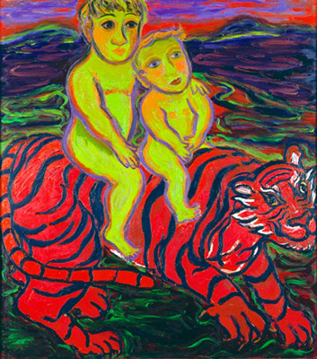 Eileen Cooper Boys and Tiger 1991