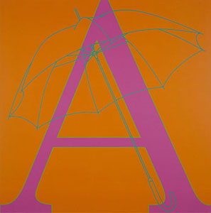 Michael Craig-Martin A is for Umbrella 2007