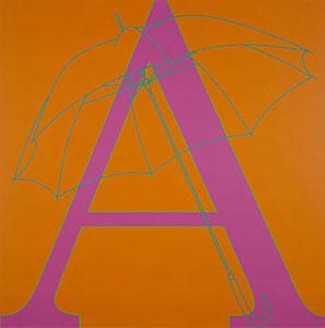 Michael Craig-Martin A is for Umbrella 2007