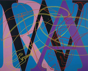 Michael Craig-Martin Untitled (WAR) 2007