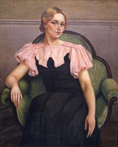 Ritratto di Isa, vestito rosa e nero, 1934