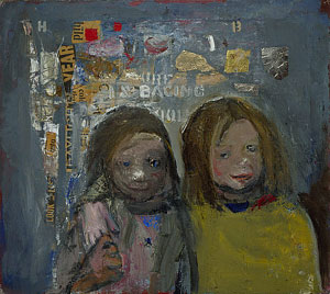 Joan Eardley Children and Chalked Wall 3 1962-63