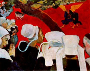 Gauguin Vision of the Sermon (Jacob Wrestling with the Angel) 1888