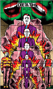 Gilbert and George 'death hope life fear' 1984