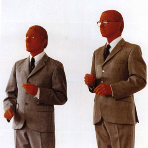 Gilbert and George Red Sculpture 1975