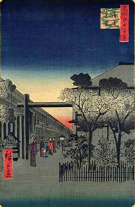 Utagawa Hiroshige Dawn Clouds at the Licensed Quarter