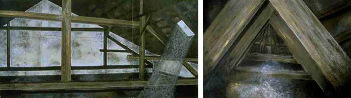 Kitty Klaidman, Hidden Memories: Attic in Sastin, 1991 and The Crawl Space, 1991