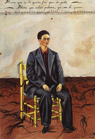 Frida Kahlo Self-Portrait with Cropped Hair 1940