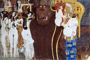 Gustav Klimt The Beethoven Frieze (Detail), 1901-2