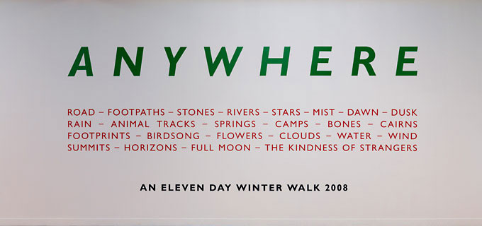 Richard Long An Eleven Day Winter Walk