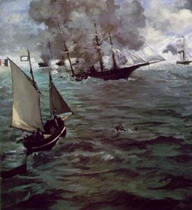 Edouard Manet Battle of the Kearsarge and the Alabama 1864