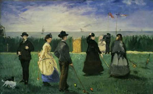 Edouard Manet Croquet at Boulogne 1871-72