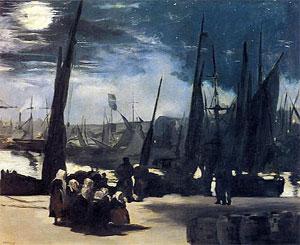 Edouard Manet Moonlight over the Port of Bologne 1869