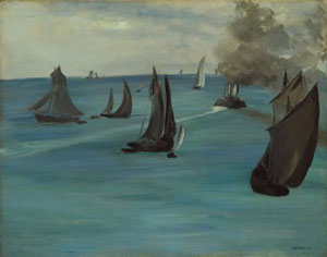Edouard Manet Steamboat Leaving Boulogne, 1864