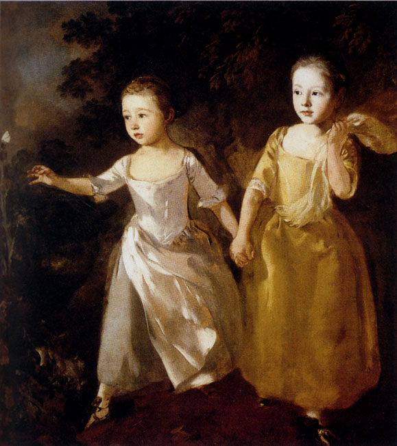 Thomas Gainsborough The Painter's Daughters chasing a Butterfly 1759