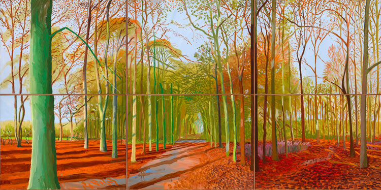 David Hockney Woldgate Woods 21 23 and 29 November 2006