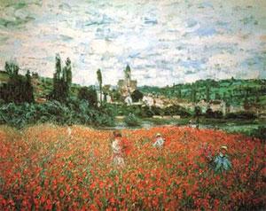 Monet Poppy Field near Vetheuil 1879