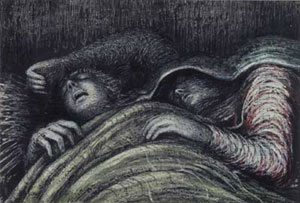 Henry Moore Two Sleepers Underground 1941
