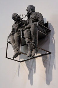 Juan Muñoz Two Seated on the Wall 2000