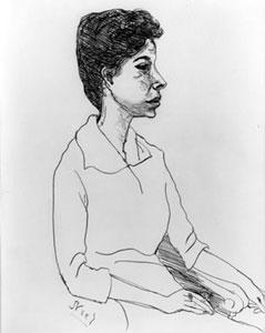 Alice Neel Cora Kaye 1958