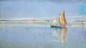 John William Inchbold On the Lagoon, Venice, 1863-4