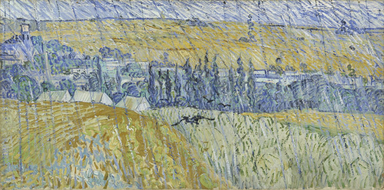 Vincent van Gogh Rain - Auvers: July, 1890