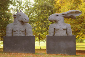 Sophie Ryder Minotaur and Lady Hare Torsos 2000