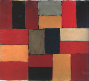 Sean Scully Wall of Light Red Day Leaving 2005
