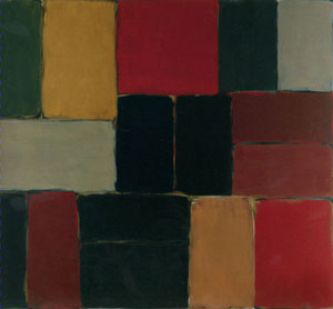 Sean Scully Wall of Light Red Green 2006