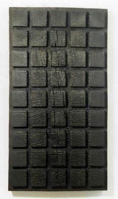 David Nash Three Charred Panels (Detail)