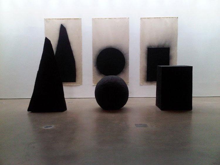 David Nash Pyramid, Sphere and Cube 1997-98