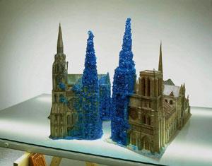 Roger Hiorns Copper Sulphate Chartres & Copper Sulphate Notre Dame, 1996