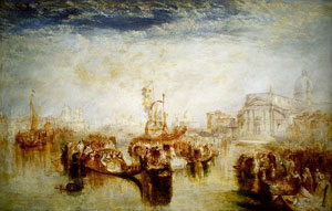 Turner Depositing of John Bellini Three Pictures in La Chiesa Redentore, Venice 1841