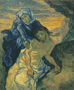 incent van Gogh Pieta after Delacroix 1889